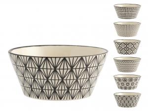6 Bolo In Stoneware Decoro Vhera Assortiti Cc600