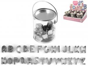 Confezione 26 Tagliabiscotti Inox Letter Tb2*disp