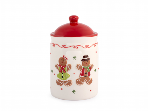 H&h Gingerbread Barattolo, Ceramica, 11x8hcm