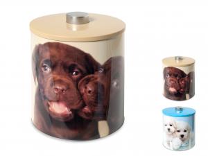 Biscottiera Latta Decoro Dogs Cm17xh20