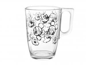 6 Mug In Vetro Mickey Heritage Cl32