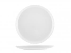 6 Piatti In Porcellana Oslo Bianco Frutta Cm19