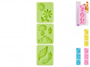 Confezione 3 Stampi Silicone Pastel Natura F5506