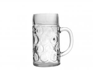 6 Bicchieri In Vetro Birra Con Manico Don 1pint 0,5
