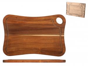 H&h Tagliere Acacia, Con Bordo, 39x26cm