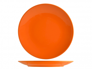Confezione 6 Piatti Iris Arancio Piano Cm26