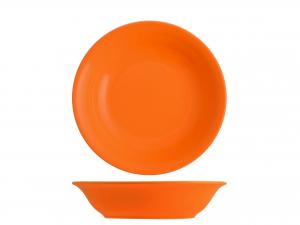 Confezione 6 Piatti Iris Arancio Fondo Cm20