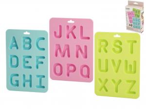 Confezione 3 Stampi Lettere Silicone Pastel F836