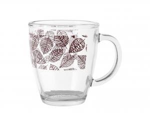 Confezione 6 Mug In Vetro Decoro Michelle