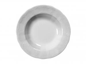 Piatto In Porcellana Salzburg Bianco Fondo 23 *sk