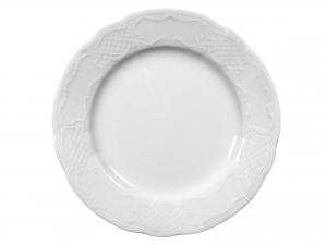 Piatto In Porcellana Salzburg Bianco Tondo 27  Ci