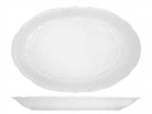 Piatto In Porcellana Salzburg Bianco Ovale 35  Ci