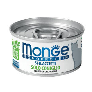 MONGE MONOPROTEIN SFILACCETTI SOLO CONIGLIO PER GATTO 80gr
