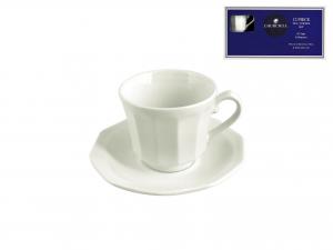 6 Tazze Caffe' Con Piatto Earthenware Arctic White