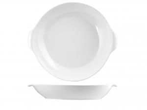 Coppa Ovale In Porcellana, 40 Cm, Bianco
