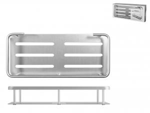 Mensola Rettangolare In Alluminio Cm28x12xh5    1551