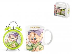 Confezione Sveglia Mug Porcellana Nani Cucciolo