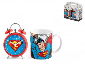 Confezione Sveglia Mug Porcellana Superman