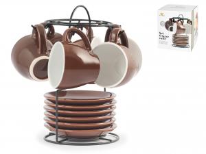 Confezione 6 Caffe'stw Marrone Con Piatto Cc90 *stand