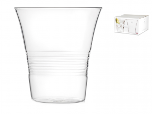 Set 4 Bicchieri In Borosilicato, 450 Ml, Trasparente