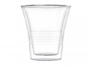 Set 2 Bicchieri Termici In Borosilicato, 330 Ml, Trasparente