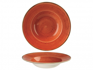 Churchill Stonecast Piatto Pasta, Porcellana, Spice Orange,