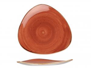 Churchill Stonecast Piatto Triangolare, Porcellana, Spice Or