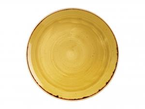 Churchill Stonecast Piatto Piano, Porcellana, Must Yellow, C