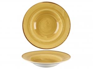 Churchill Stonecast Piatto Pasta, Porcellana, Must Yellow, C