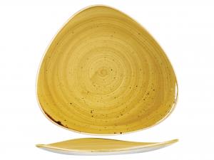 Churchill Stonecast Piatto Triangolare, Porcellana, Must Yel