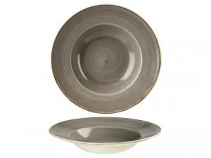 Churchill Stonecast Piatto Pasta, Porcellana, Pepper Grey, C
