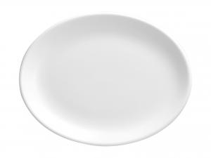 Churchill Whiteware Piatto Ovale, Ceramica, Bianco, Cm 23