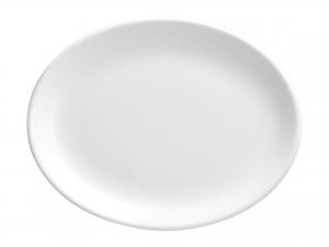 Churchill Whiteware Piatto Ovale, Ceramica, Bianco, Cm 25,4