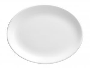 Churchill Whiteware Piatto Ovale, Ceramica, Bianco, Cm 28