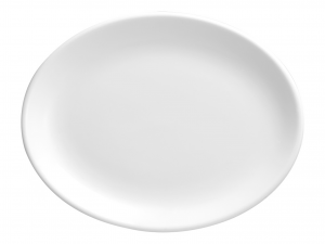 Churchill Whiteware Piatto Ovale, Ceramica, Bianco, Cm 30,5