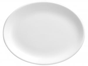 Churchill Whiteware Piatto Ovale, Ceramica, Bianco, Cm 36