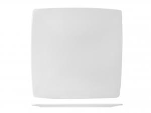Piatto Quadrato In Porcellana, 32x32 Cm, Bianco