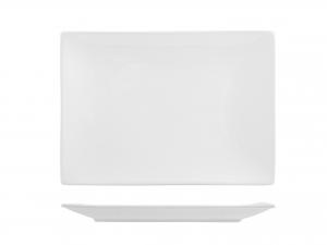 Piatto In Porcellana Bianco Rettangolare Cm21x30 B0879/hp