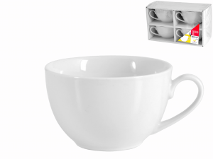 Confezione 4 Te' Porcellana Bianco Senza Piatto Cc220