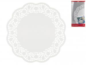 Confezione 12 Sottotorta Cm33 Bianco 3391 Rose