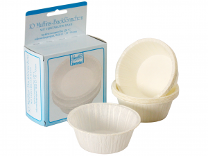 Confezione 10 Pirottini Muffin Bianco 6335