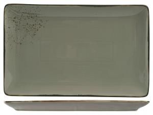 Piatto Reactive In Stoneware, 38x24 Cm