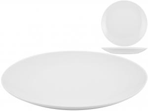Piatto In Porcellana Bianco Tondo Cm30    Pc12/12w