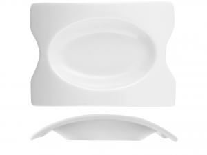 Set 4 Mini Antipastiere In Porcellana, 10x7 Cm, Bianco