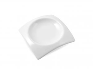 Antipastiera Porcellana Bianco Quadro Cm8 Hp0719