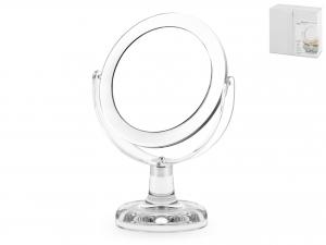 Specchio Da Tavolo In Acrilico, ø 13 Cm, Trasparente