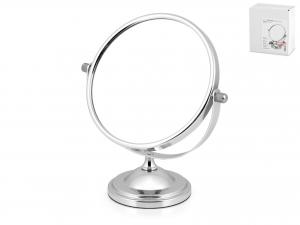 Specchio Da Tavolo Con Base Cromata, ø 14 Cm