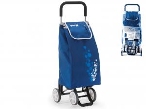 Carrello Spesa Twin 4ruote Blu'
