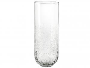 Vaso In Vetro Cracklè, H37 Cm, Trasparente