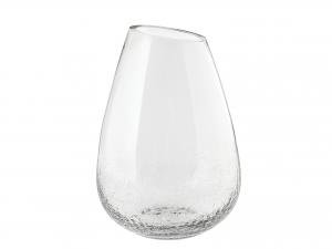 Vaso In Vetro Cracklè, H29 Cm, Trasparente